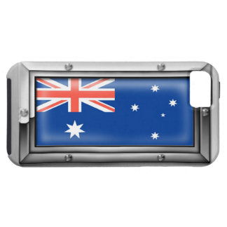 Australian Flag in a Steel Frame iPhone 5 Covers