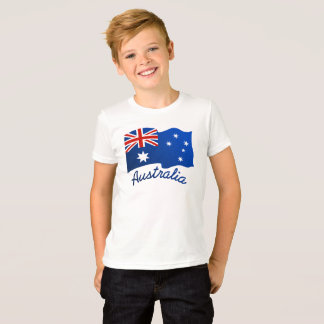 Australian flag in the wind T-Shirt