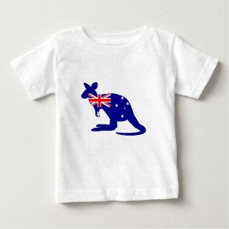 Australian Flag - Kangaroo Baby T-Shirt