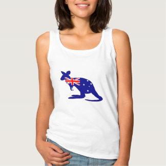 Australian Flag - Kangaroo Tank Top