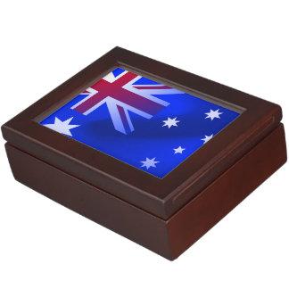 Australian flag keepsake boxes