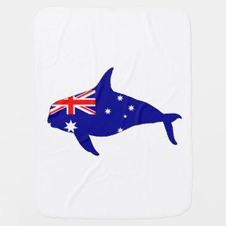 Australian Flag - Killer Whale Grampus Orca Baby Blanket
