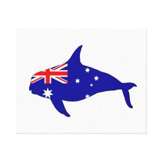 Australian Flag - Killer Whale Grampus Orca Canvas Print