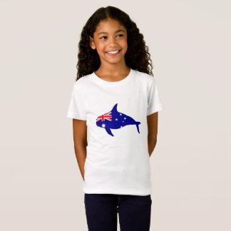 Australian Flag - Killer Whale Grampus Orca T-Shirt