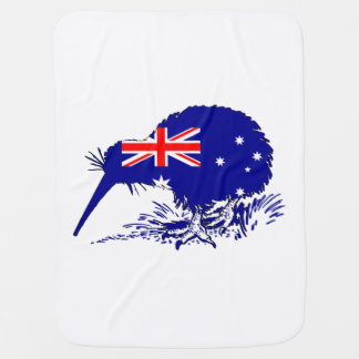 Australian Flag - Kiwi Bird Stroller Blanket