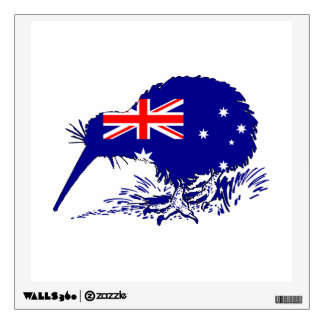 Australian Flag - Kiwi Bird Wall Decal