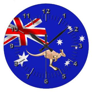 Australian flag large clock