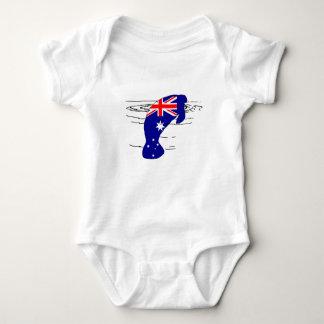 Australian Flag - Manatee Baby Bodysuit