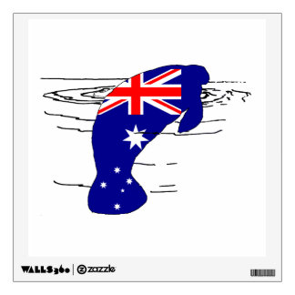 Australian Flag - Manatee Wall Decal