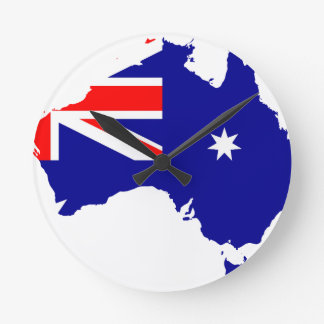 Australian flag map clocks