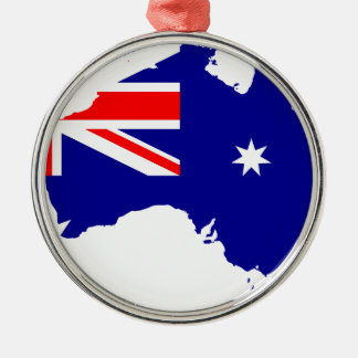 Australian flag map metal ornament
