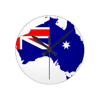 Australian flag map round clock