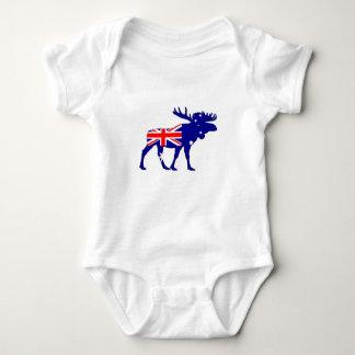 Australian Flag - Moose Baby Bodysuit