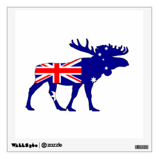Australian Flag - Moose Wall Decal