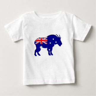 Australian Flag - Mountain Goat Baby T-Shirt