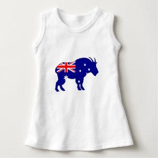 Australian Flag - Mountain Goat Dress