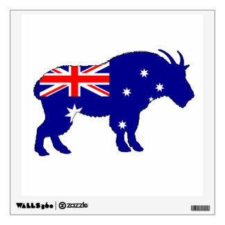 Australian Flag - Mountain Goat Wall Decal