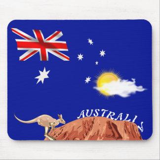 Australian flag mouse pad