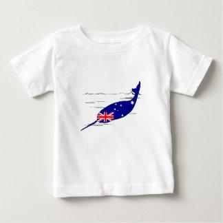 Australian Flag - Narwhal Baby T-Shirt
