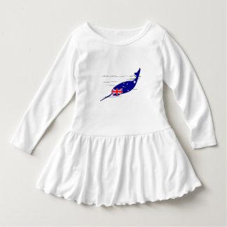 Australian Flag - Narwhal Dress