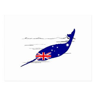 Australian Flag - Narwhal Postcard