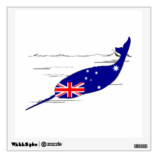 Australian Flag - Narwhal Wall Decal