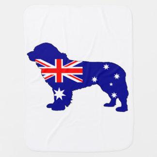Australian Flag - Newfoundland Dog Baby Blanket