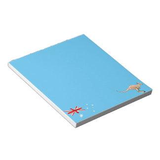 Australian flag notepad