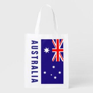 Australian flag of Australia grocery shopping bag