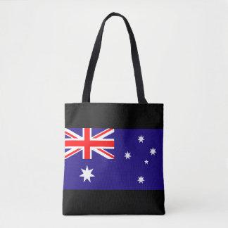 Australian flag of Australia shopping tote bags