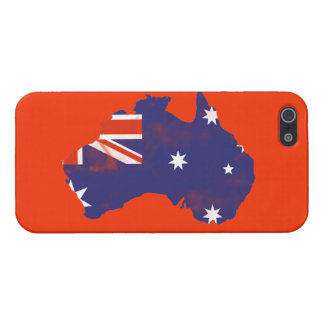 Australian Flag on map Grunge Case For The iPhone 5