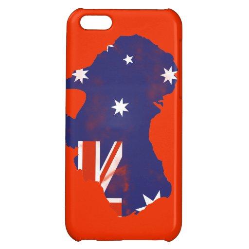 Australian Flag on map Grunge iPhone 5C Cases