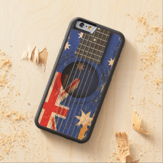Australian Flag on Old Acoustic Guitar Maple iPhone 6 Bumper
