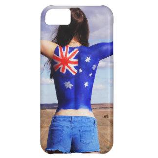 Australian Flag on the body Case For iPhone 5C