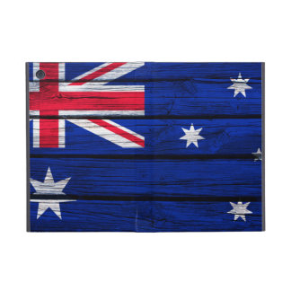 Australian Flag Painted on Rustic Wood iPad Mini Cover