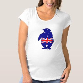 Australian Flag - Penguin Maternity T-Shirt