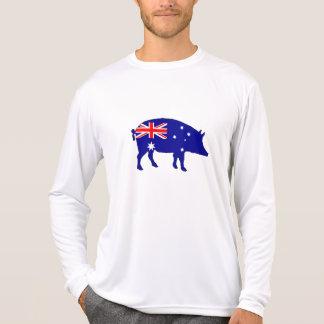 Australian Flag - Pig T-Shirt