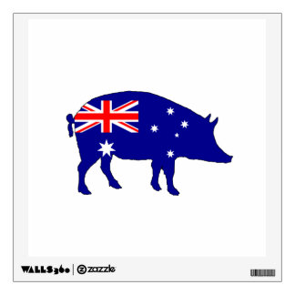 Australian Flag - Pig Wall Decal