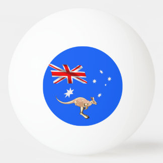 Australian flag ping pong ball