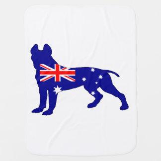 Australian Flag - Pit Bull Terrier Baby Blanket