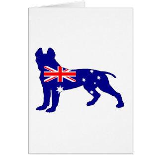 Australian Flag - Pit Bull Terrier Card