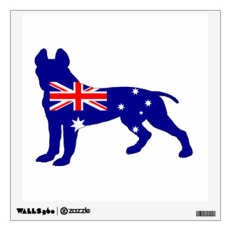 Australian Flag - Pit Bull Terrier Wall Sticker