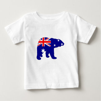 Australian Flag - Polar Bear Baby T-Shirt