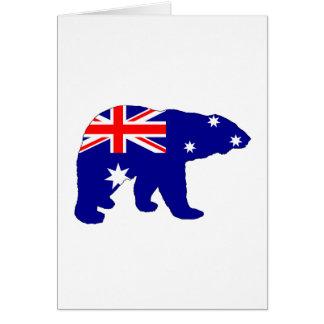 Australian Flag - Polar Bear Card