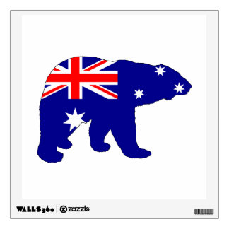 Australian Flag - Polar Bear Wall Sticker