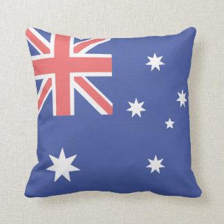Australian Flag Polyester Throw Pillow