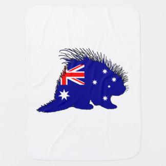 Australian Flag - Porcupine Stroller Blanket