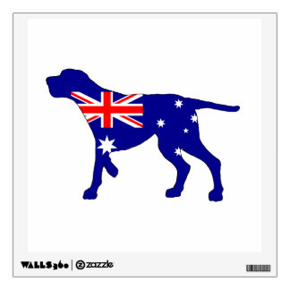 Australian Flag - Redbone Coonhound Wall Sticker