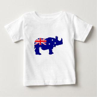 Australian Flag - Rhinoceros Baby T-Shirt