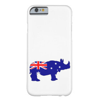 Australian Flag - Rhinoceros Barely There iPhone 6 Case